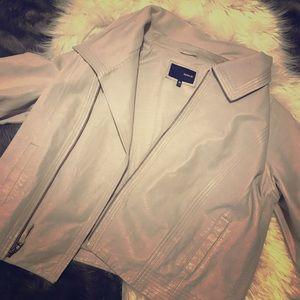 Leather Hurley zip up jacket